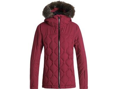 ROXY Damen Gesteppte Snow-Jacke Breeze Rot
