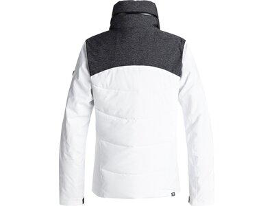 ROXY Damen Gesteppte Snow-Jacke Flicker Weiß