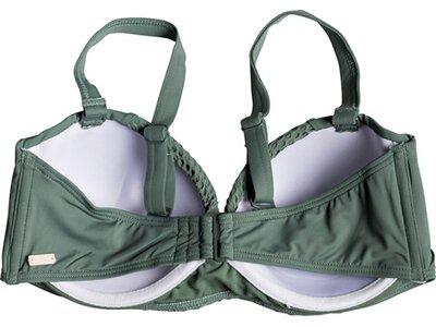 ROXY Damen Vorgeformtes Bandeau-Bikinioberteil mit Körbchengröße D Garden Summers Grün