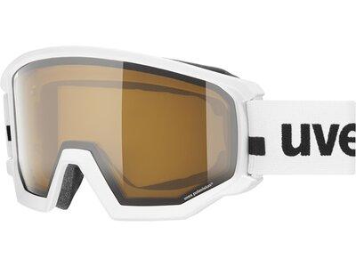 Uvex Skibrille athletic P white mat dl/pola-clear Weiß