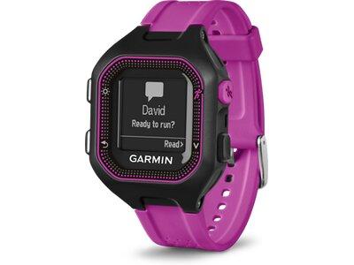GARMIN GPS Laufuhr Forerunner® 25, Europe, Black/Purple Bundle With Heart Rate Monitor Schwarz