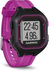 GARMIN GPS Laufuhr Forerunner® 25, Europe, Black/Purple Bundle With Heart Rate Monitor