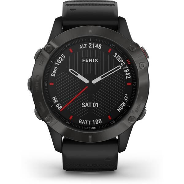 GARMIN GPS-Multisport-Smartwatch FENIX 6 SAPPHIRE