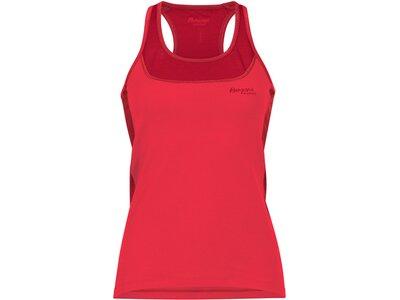 BERGANS Damen Cecilie Active Wool Singlet Rot