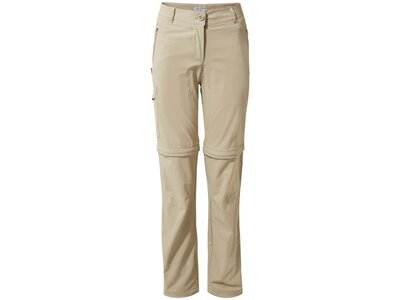 CRAGHOPPERS Damen Hose NosiLife Pro Stretch Zipp-off Braun