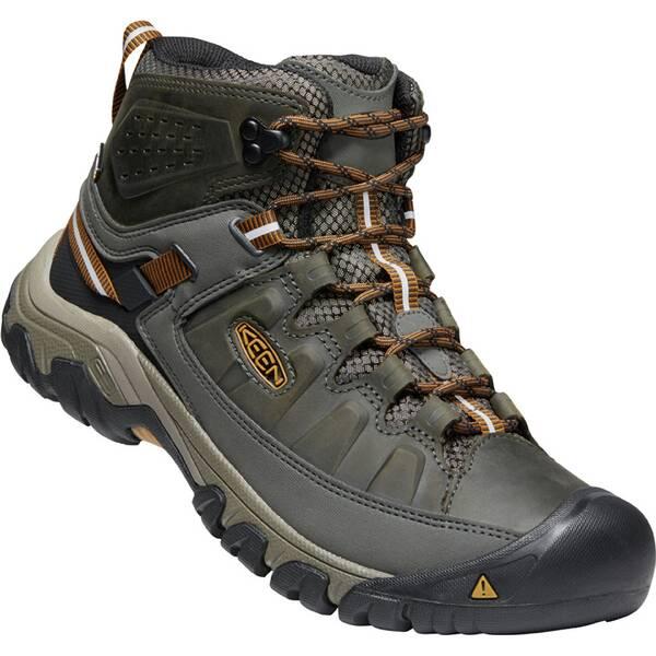 KEEN Herren Wanderstiefel Targhee III Mid Wp M-Big | Schuhe > Outdoorschuhe > Wanderstiefel | Black - Brown | KEEN