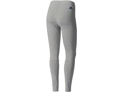 ADIDAS Damen Trainingstights / Fitnesshose Essentials Linear Grau