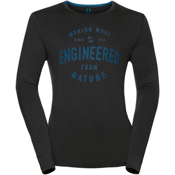 ODLO Herren Funktionsunterhemd / Funktionsshirt Shirt l/s Crew Neck 100% Natural Langarm