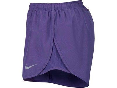 NIKE Damen Laufshorts Dry Tempo Embossed Short Blau