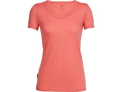 ICEBREAKER Merino Damen Funktionsshirt Women's Tech Lite Short Sleeve Scoop Pink