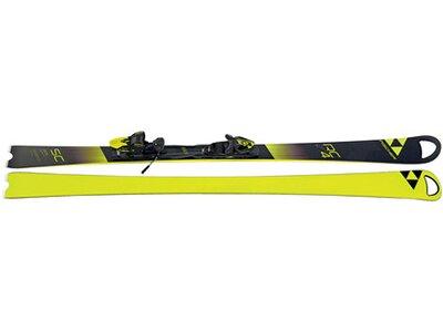 FISCHER Skier RC4 World Cup SC Yellow Base inkl. Bindung RC4 Z12 Schwarz