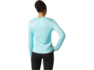 ADIDAS Damen Laufshirt / Trainingsshirt Response Long Sleeve Langarm Blau