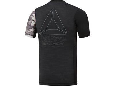 REEBOK Herren ACTIVCHILL Graphic Compression T-Shirt Schwarz