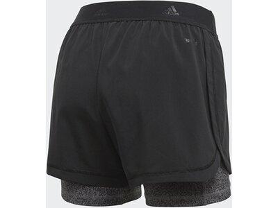 ADIDAS Damen Two-in-One Printed Shorts Schwarz