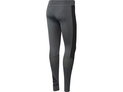 REEBOK Damen Trainingstight Workout Ready Graphic Legging Grau