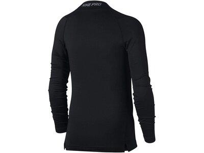 NIKE Boys Funktionsunterhemd /Trainingsshirt Pro Warm Top Langarm Schwarz