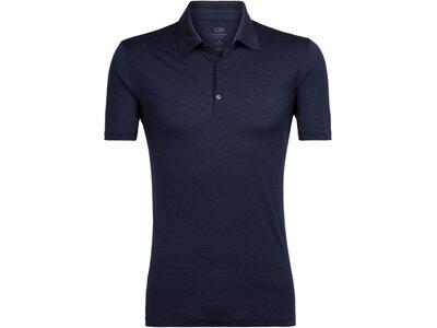 ICEBREAKER Merino Herren Poloshirt Tech Lite Blau
