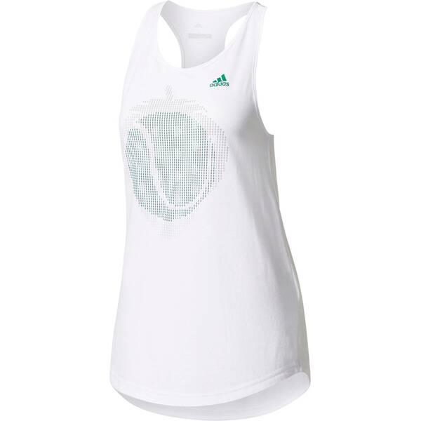 ADIDAS Damen Tennistop London Graphic   Sportbekleidung > Sporttops > Tennistops   White   Adidas