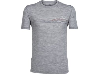ICEBREAKER Merino Herren T-Shirt Tech Lite Short Sleeve Crewe Grau