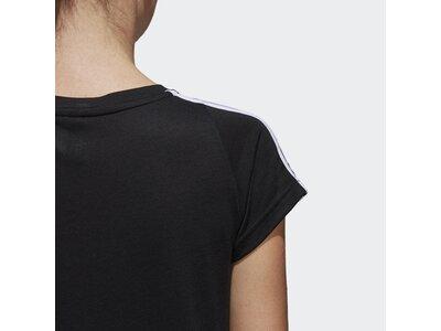 ADIDAS Damen T-Shirt Essentials 3-Streifen Schwarz