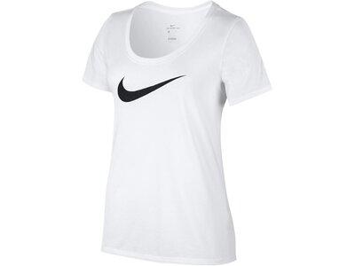NIKE Damen Trainingsshirt Dry Weiß