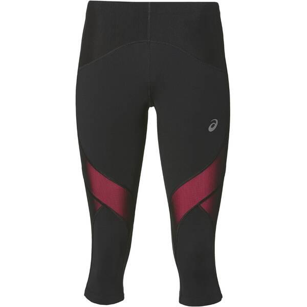 Hosen - ASICS Damen Lauftight Leg Balance Knee Tight W Dreiviertellang › Grau  - Onlineshop Intersport