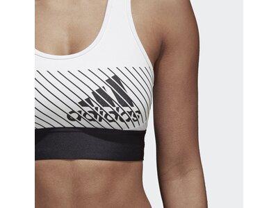 ADIDAS Damen Logo Sport-BH Weiß