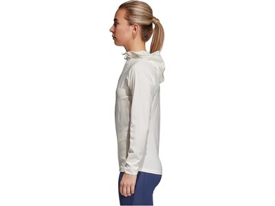 ADIDAS Damen Trainingsjacke/Sweatjacke FreeLift Woven Cover Up Weiß