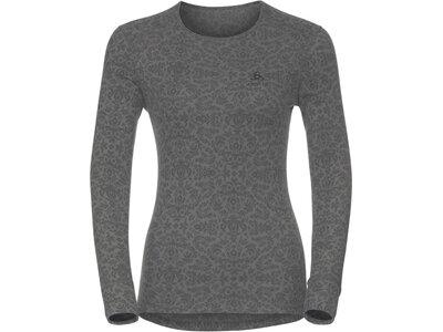 ODLO Damen Thermounterhemd God Jul Print Originals Baselayer Shirt Langarm Grau
