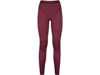ODLO Damen lange Funktionsunterhose Blackcomb Evolution Warm Pants Rot