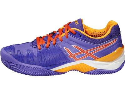 ASICS Damen Tennisschuhe Outdoor Gel Resolution 6 Clay Lila