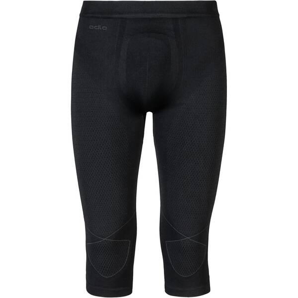 ODLO Herren Funktionsunterhose Evolution Warm 3/4 Baselayer Pants Dreiviertellang | Sportbekleidung > Funktionswäsche > Thermoleggings | Black - Graphite | ODLO