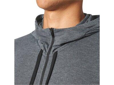 ADIDAS Herren Sweatjacke Workout Full Zip Hood Langarm Grau