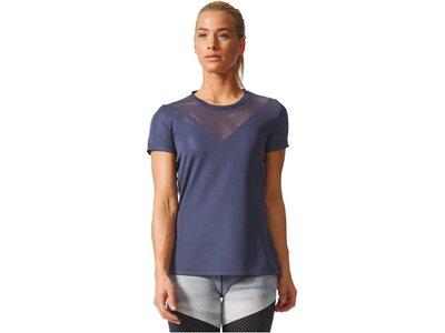 ADIDAS Damen Trainingsshirt Feminine Tee Blau