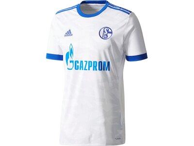 ADIDAS Herren Fußballtrikot Schalke 04 Away Jersey Saison 2017/18 Weiß