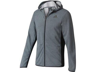 ADIDAS Herren Trainingsjacke / Sweatjacke Workout FZ ClimaCool Grau