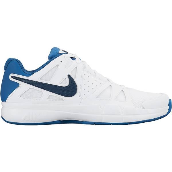 NIKE Herren Tennisschuhe Air Vapor Advantage Carpet | Schuhe > Sportschuhe > Tennisschuhe | Weiß - Blau - Dunkelblau | Nike