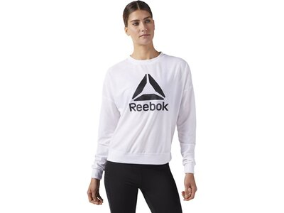 REEBOK Damen Workout Ready ACTIVCHILL Crew Neck Sweatshirt Weiß