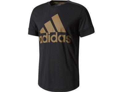 ADIDAS Herren Trainingsshirt ID Big Logo Tee Schwarz