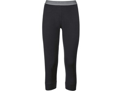 ODLO Damen Funktionsunterhose Pants 3/4 Natural 100% Merino Schwarz