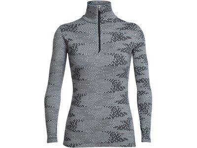ICEBREAKER Merino Damen Shirt Vertex Long Sleeve Half Zip Flurry Langarm Grau