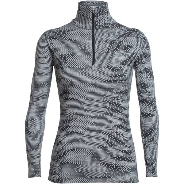 ICEBREAKER Merino Damen Shirt Vertex Long Sleeve Half Zip Flurry Langarm
