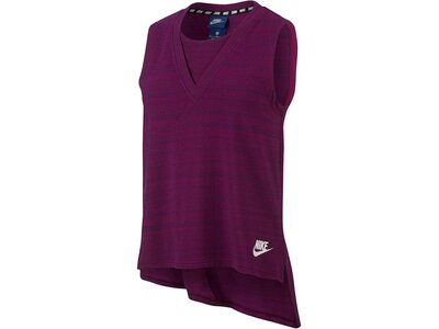 NIKE Damen Trainingsshirt Advance 15 Ärmellos Rot
