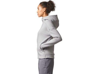 ADIDAS Damen Sweatjacke / Kapuzenjacke / Trainingsjacke Z.N.E. Hood2 Pulse Silber