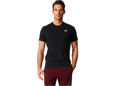 ADIDAS Herren Trainingsshirt Essentials Base Tee Kurzarm Schwarz