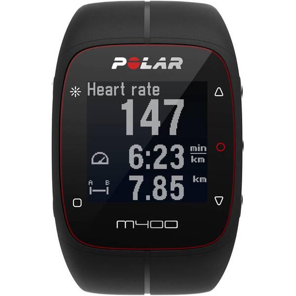 POLAR GPS Laufuhr M400 HR Black