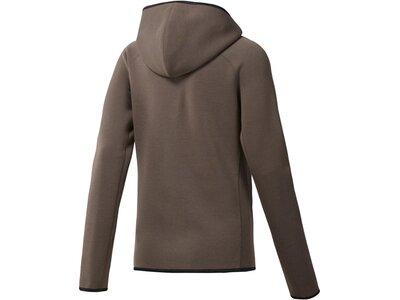 REEBOK Damen Quik Cotton Full Zip Hoodie Grau