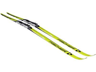 FISCHER Langlaufski inkl. Skifellen Twin Skin Pro - ohne Bindung Gelb