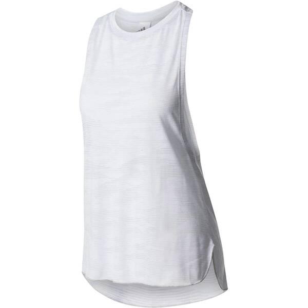 ADIDAS Damen Sportshirt / Tanktop Boxy Tank Aeroknit | Sportbekleidung > Sportshirts > T-Shirts | White | ADIDAS