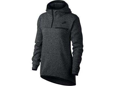 NIKE Damen Fleecepullover mit Kapuze Sportswear Top Schwarz